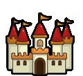 Desenhos de Castelos para colorear